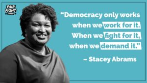 In the Georgia state legislature, a bill is being introduced in which anyone who has ever LIKED a post by Stacey Abrams on social media will henceforth be deemed a member of Antifa and ineligible to vote.