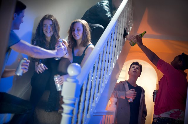 """Do you notice anything missing from this photo of a party of teenagers? If you guessed, """"Where are the parents?"""", you're a winner. These underage kids are having a fun time chillaxing with 45 of their closest friends. If you ask me, they're just having good clean fun – and perhaps just a little too much tequila."""