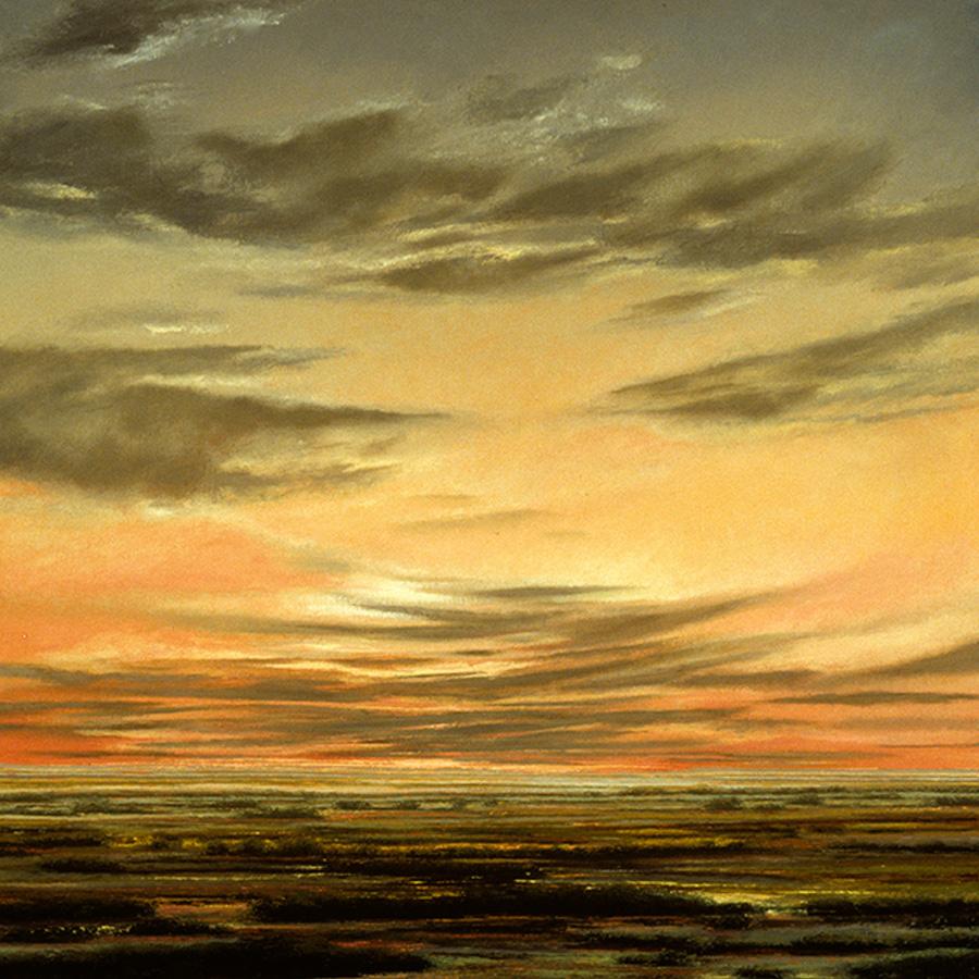 """Bottomless Lakes X, Oil on linen, 38""""x 36"""", 1999"""