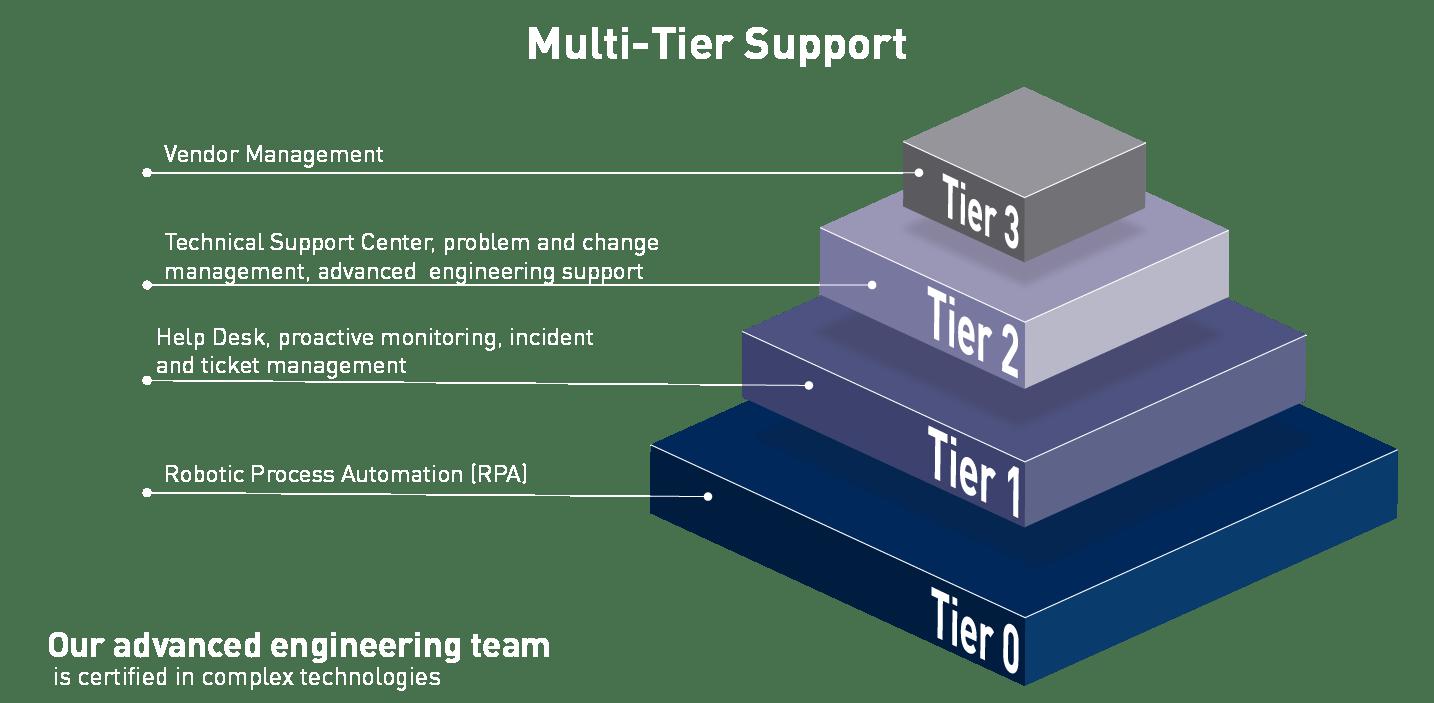 Illustrates multilevel managed services