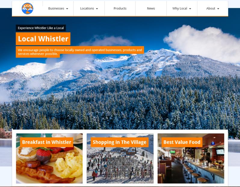 Local Whistler website