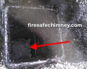 Birds nest blocking chimney flue