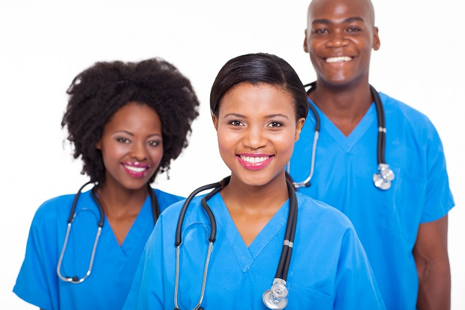 group of african medical doctors