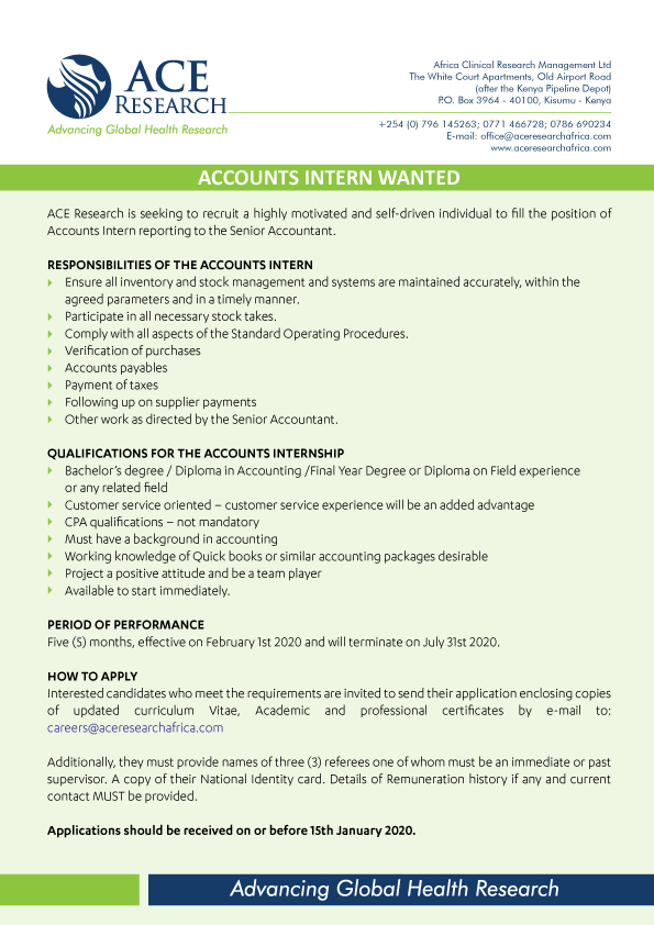 Accounting Intern (Corporate Accounting)