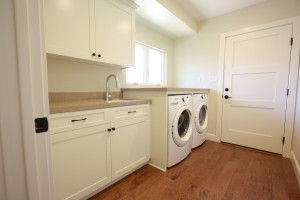 White painted shaker custom cabinets
