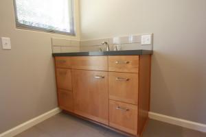 custom alder bath cabinets