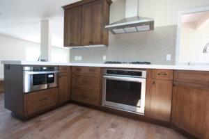 dark  maple shaker cabinets #cabinetsinwestlakevillage