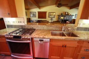 custom built cherry cabinets in camarillo