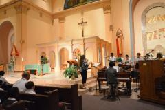 Students inside Chapel