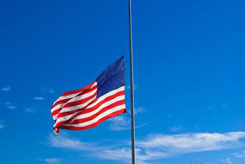 Flags Lowered for Grant Larson