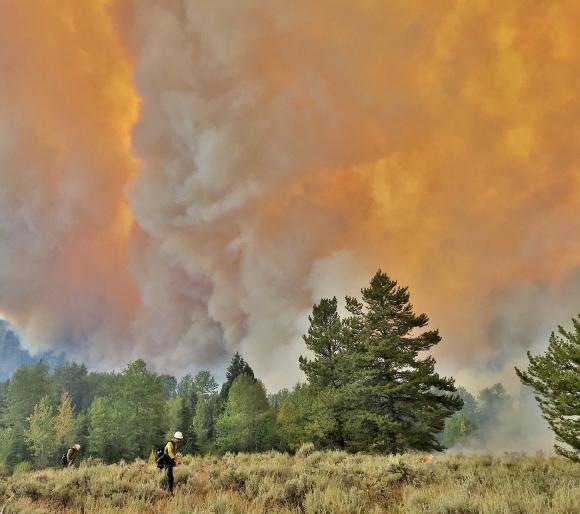 Teton Area Fires Burning
