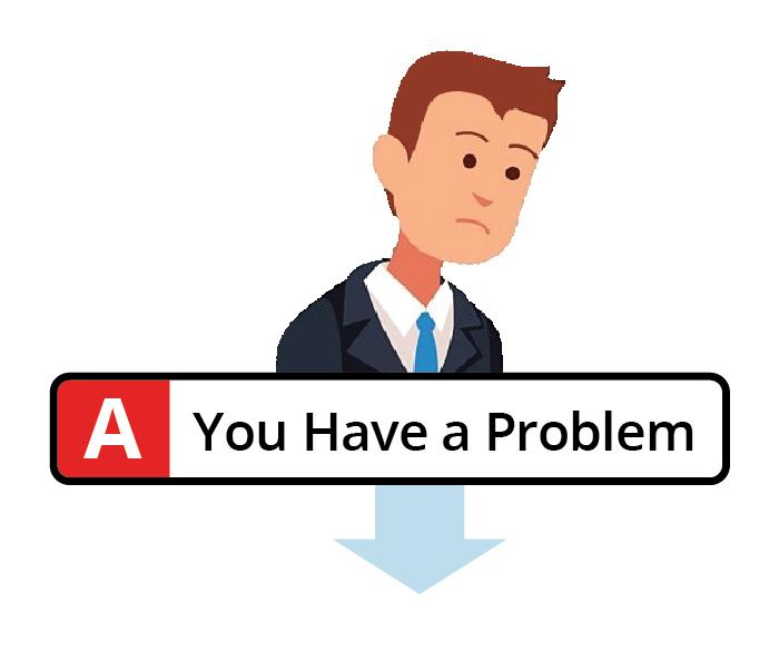 Businessman with a computer problem