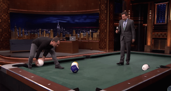 "Law vs Fallon in ""Pool-Bowling"""