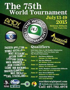 World Tournament of 14.1 Qualifiers Start June 6!