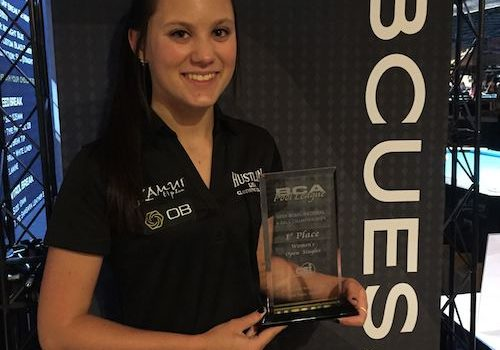 OB Cues Newest Champion – Taylor Hansen Wins BCAPL Women's Open 9-Ball!