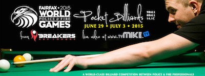 Gold, Silver, Bronze Medals for Pool-Billiards in World Police & Fire Games