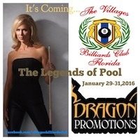 Florida Billiards Expo Jan. 28-31 at The Villages, Florida