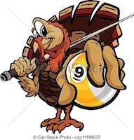 turkey playing pool
