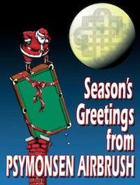 "Pool & Billiard Magazine ""Season's Greetings"" from Pysmonsen Airbrush"