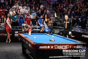 Europe Increases Lead in pool's Mosconi Cup but USA Still in Race