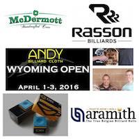 Andy Cloth Wyoming Open Draws Elite Pool Sponsors