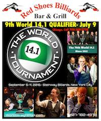 Pool's World Tournament of 14.1 Chicago Qualifier July 9