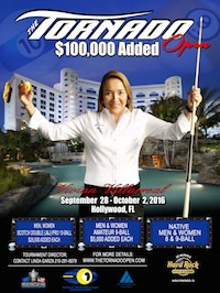 Pool's Tornado Open, $100,000 Added, Sep. 28 – Oct. 2, Pro & Amateur Events