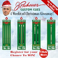 J. Pechauer Custom Cues Annual Christmas Giveaway