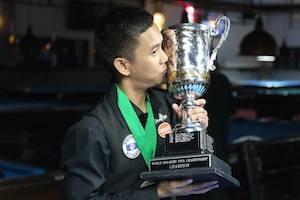 Lee Van Corteza, First Asian World 14.1 Champion