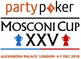 PARTYPOKER, REMAINS MOSCONI CUP TITLE SPONSOR