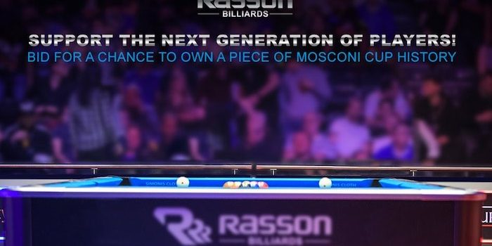 Rasson USA Supports Youth Billiards Through Charity Table Auction
