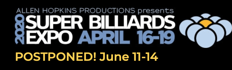 Super Billiards Expo Postponed to June 11-14 Due To COVID-19