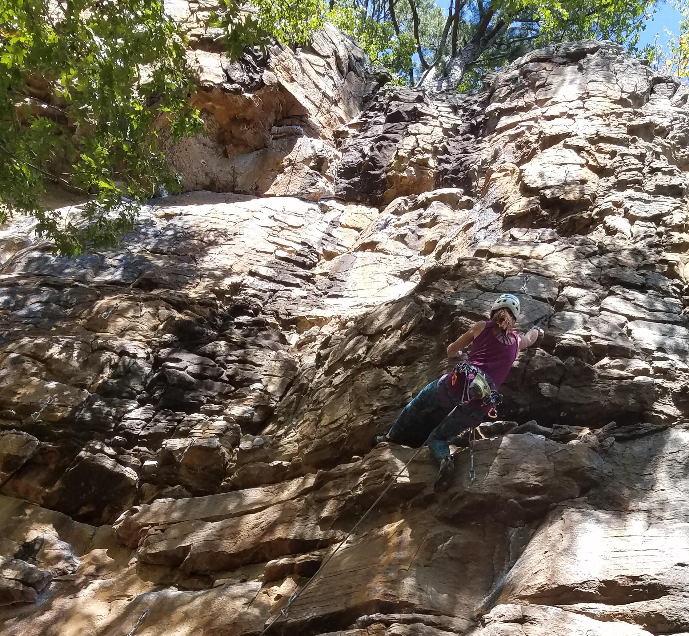 Rock Climbing in Horseshoe Canyon Ranch