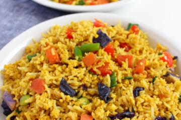 vegan low FODMAP fried rice, gluten free