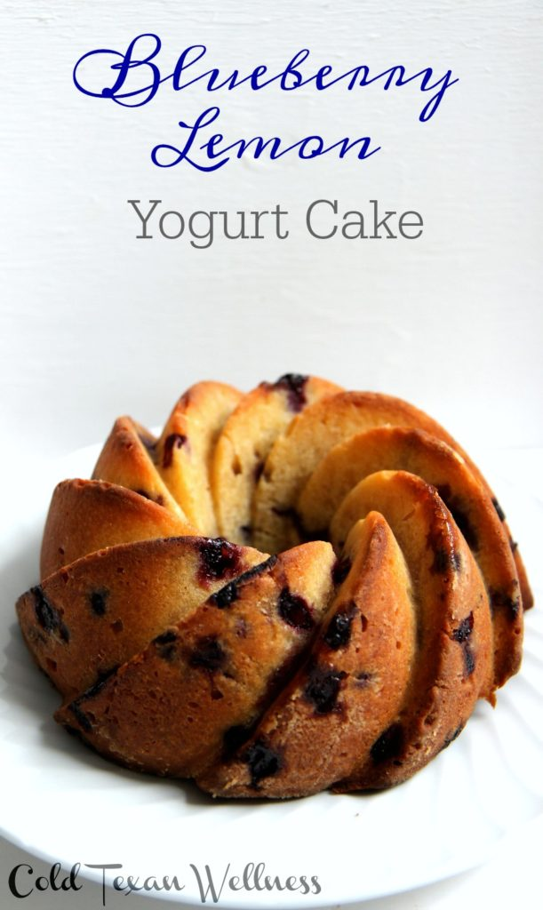 Lemon Blueberry Yogurt Cake is a favorite light and refreshing healthy baked treat!