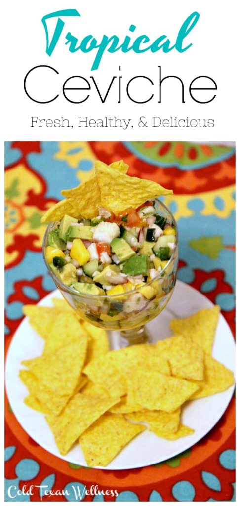 Delicious zesty and healthy tropical ceviche recipe. So easy and healthy. It's such a fun dish to make.