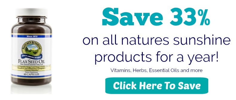 Save 33% on Natures sunshine products!