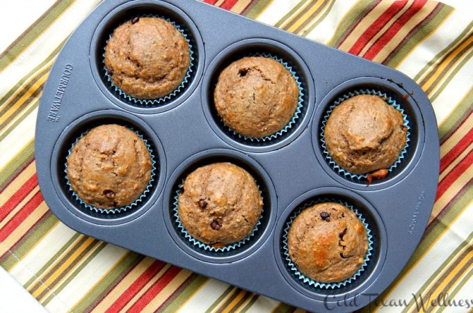 Peanut Butter and banana Chunky Monkey Muffins