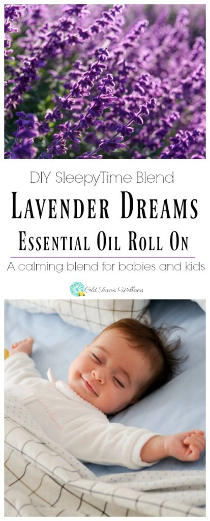 DIY Lavender Dreams Sleepy Time Essential Oil Roll On Blend. The perfect sleepy time blend, perfect for babies and kids. Help the whole family fall asleep with essential oils.