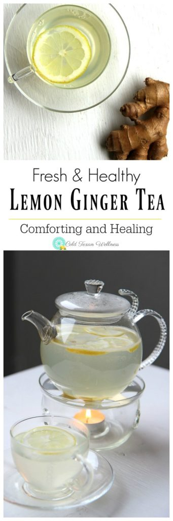 Fresh, healthy, and homemade! This Lemon Ginger Tea recipe will warm you from the inside out while providing a wide range of health benefits! #healthyliving #tea #cleaneating #detox