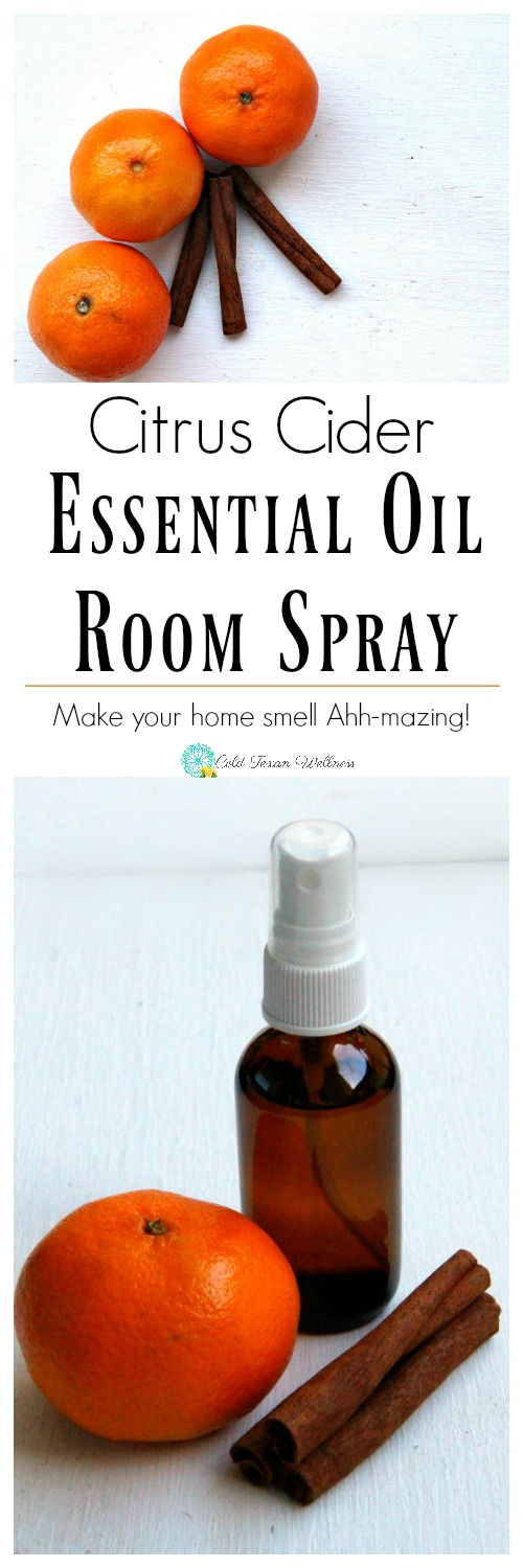 DIY Citrus Cider Essential Oil Room Spray - refresh your home naturally with this warm and comforting natural freshener. #essentialoils #essentialoilrecipes #diygifts #fallrecipes #diffuserrecipes #healthyliving #naturalliving #healthylife