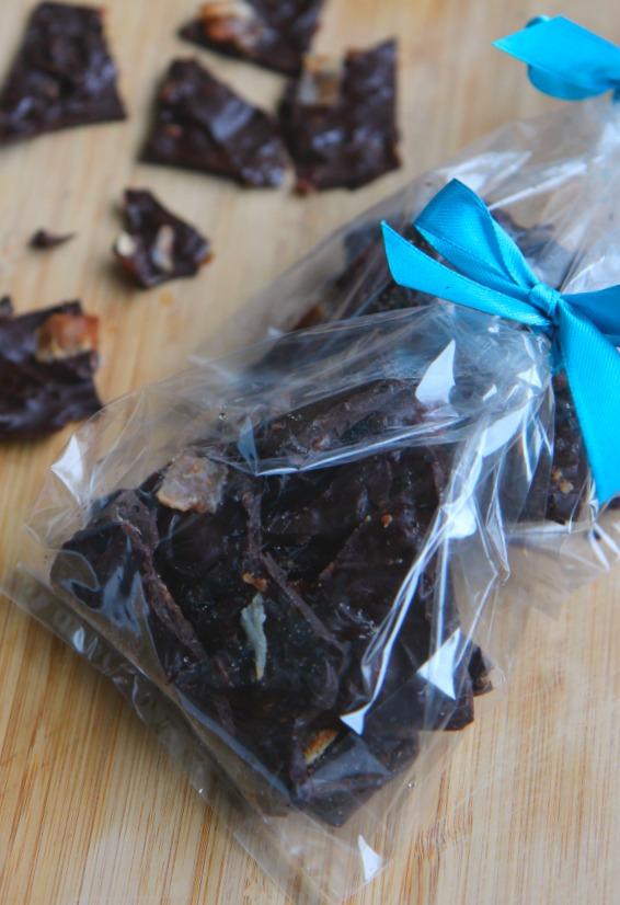 Dark Chocolate Bacon Bark