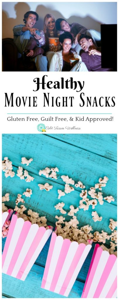 Healthy movie night snacks are a great way to enjoy a guilt free night in. These 5 healthy snack ideas are kid approved, vegan, gluten free, and DELICIOUS!