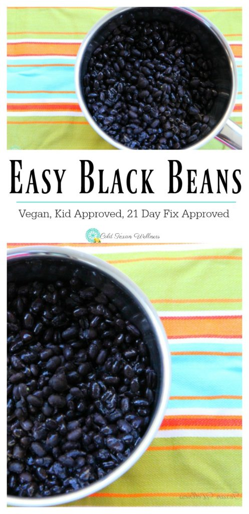Simple and Easy Black Beans, the perfect easy way to add tons of important nutrients into your diet. A budget friendly ingredient that works great with freezer meals and meal planning #5ingredientsorless #veganrecipe #21dayfixapproved #veganandglutenfree #blackbeans #vegetarianside