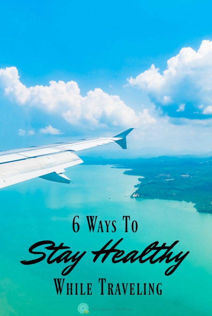 6 Easy Ways to Stay Healthy While Traveling. Vacation is full of all kinds of unexpected things that can bring your immune system down. Here's how to keep up without having to say no to delicious treats on vacation. #healthytravel #traveltips #healthytravel #healthylifestyle #healthy #travel #cleaneating #wellnesstravel #flying