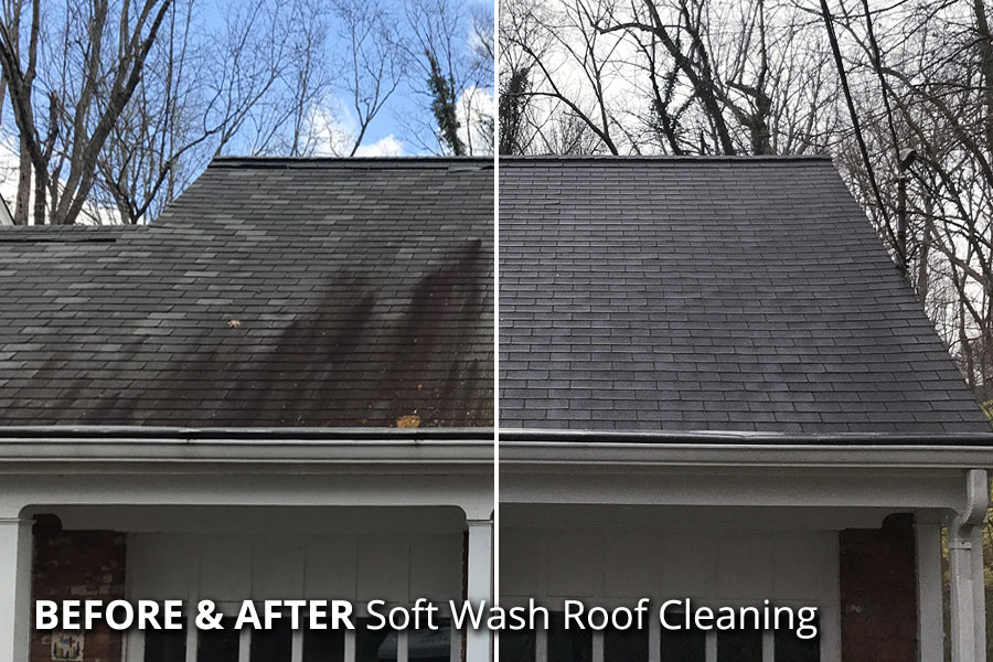 roof-stains-soft-pressure-washing-cincinnati-oh-ky-in