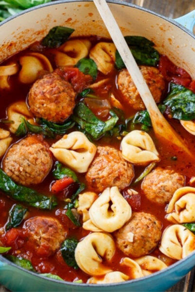 What's For Dinner: Meatball Tortellini Soup