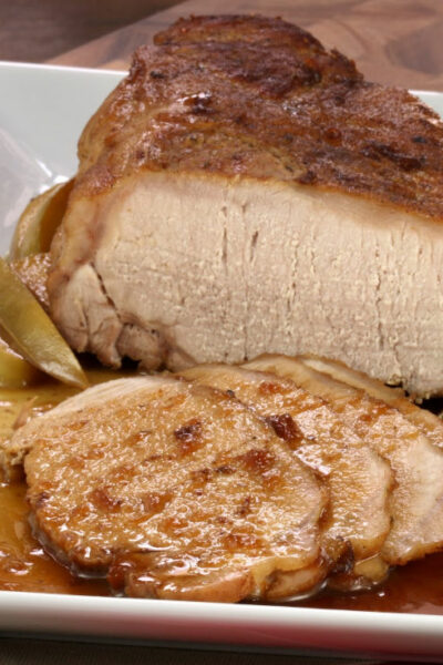 What's For Dinner: Pork Roast Topped With Applesauce