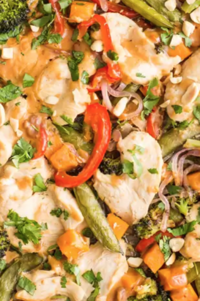 What's For Dinner: Sheet Pan Peanut Chicken & Veggies