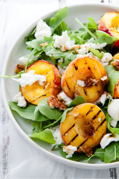 What's For Dinner: Grilled Peach and Mozzarella Salad